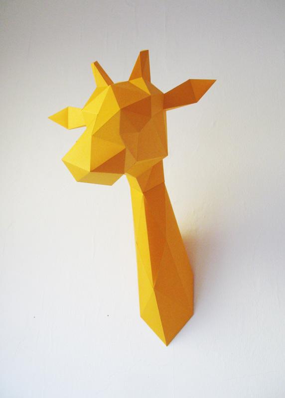 Paper Giraffe Folding Kit Assembli