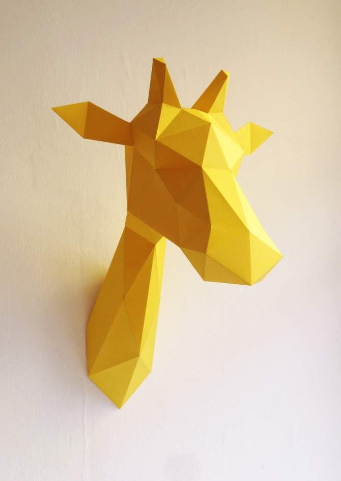 Paper Giraffe Folding Kit
